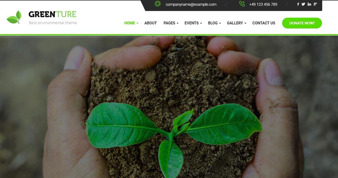 Greenture Non Profit WordPress Theme