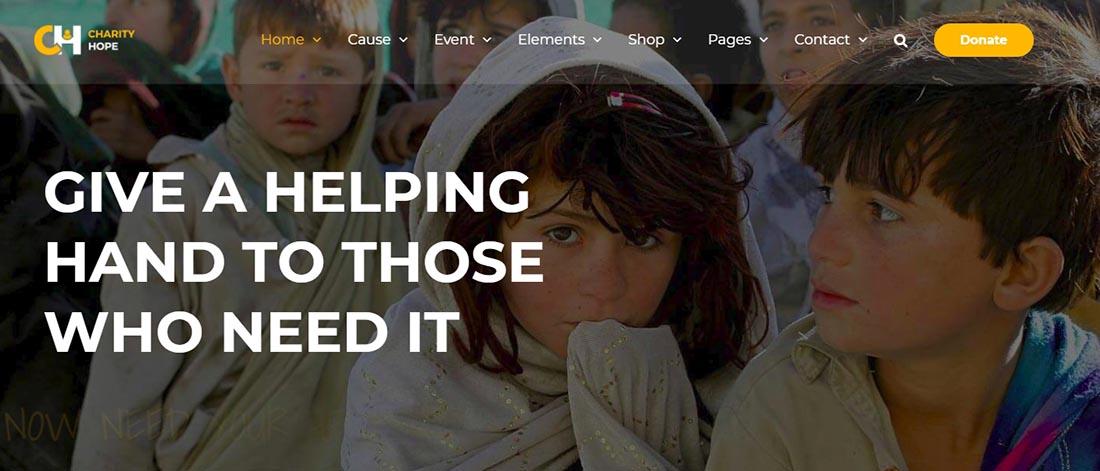 Charity Hope Non Profit WordPress Theme