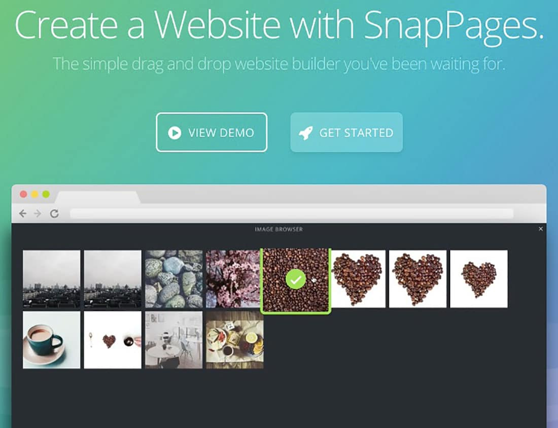 16 Snap pages Website Builder