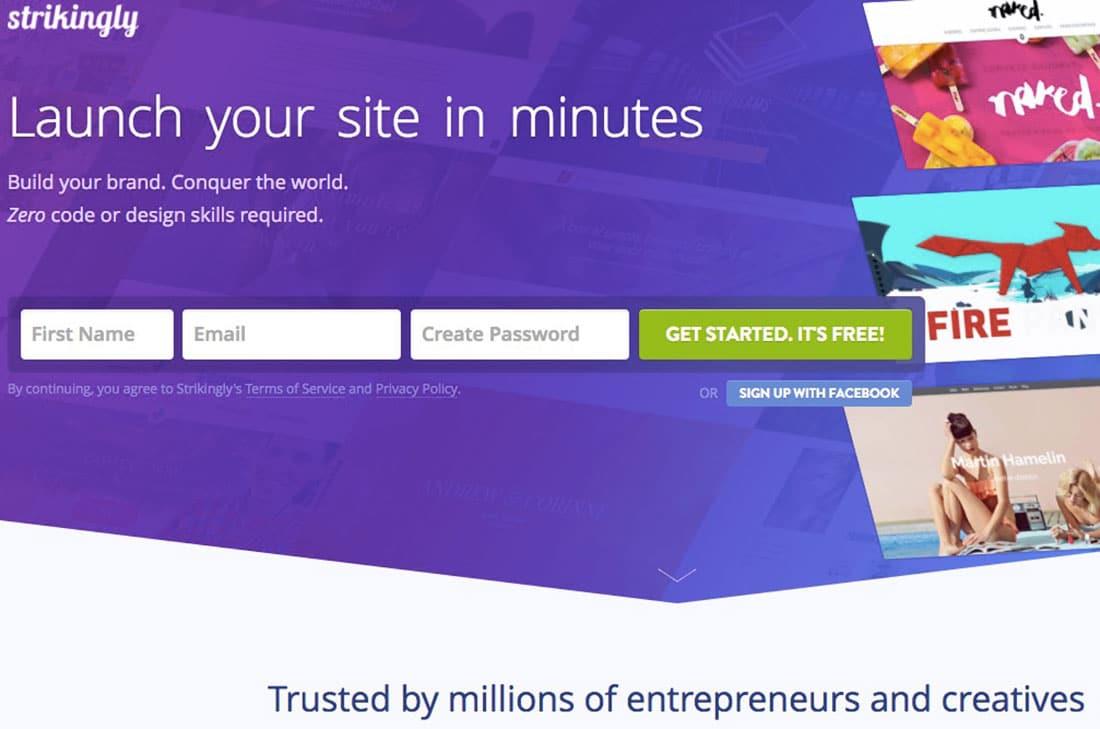 6 Strikingly Free Website Builder