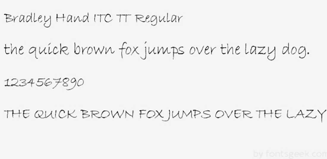 2 Bradley Hand Worst Fonts