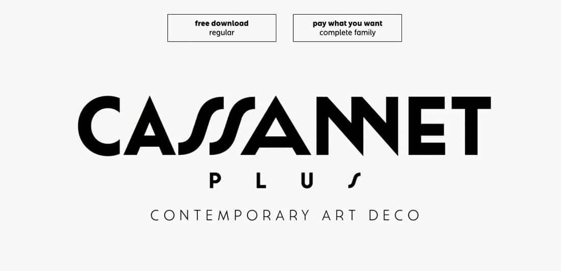 10 Cassannet Plus Regular Contemporary Font