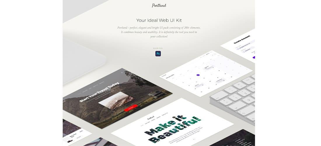 17 Portland- Free UI kit based on Bootstrap