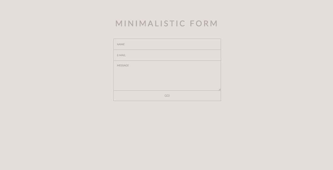18 MINIMALISTIC Contact Form Templates