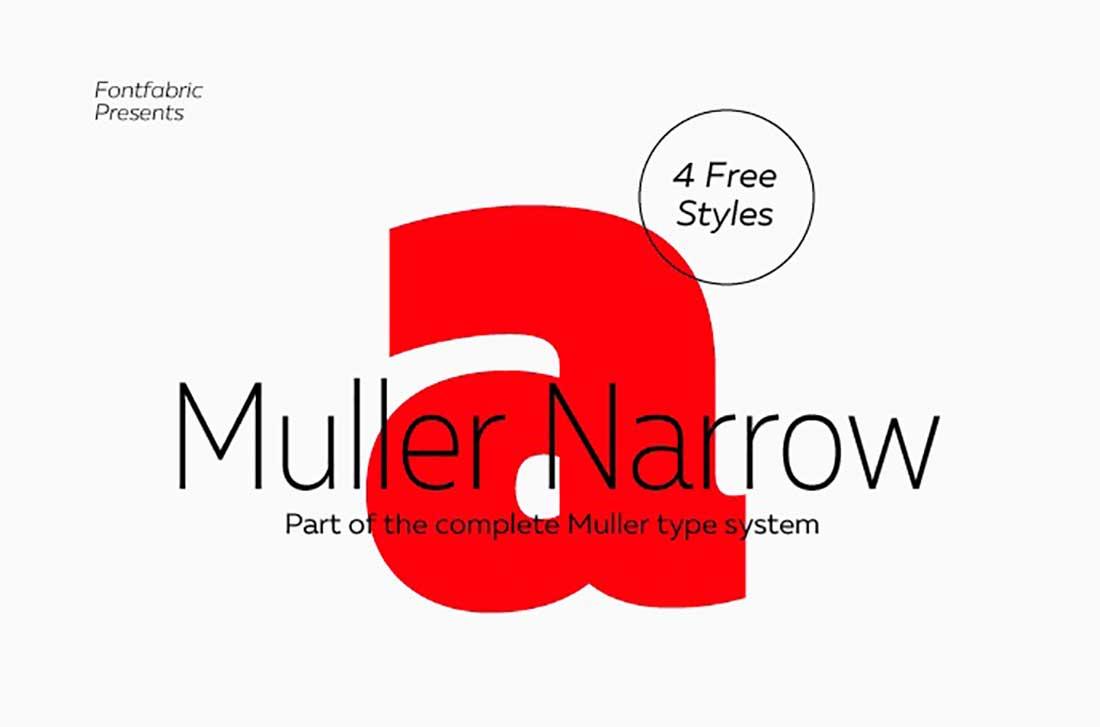 22 Mueller Narrow Contemporary Font