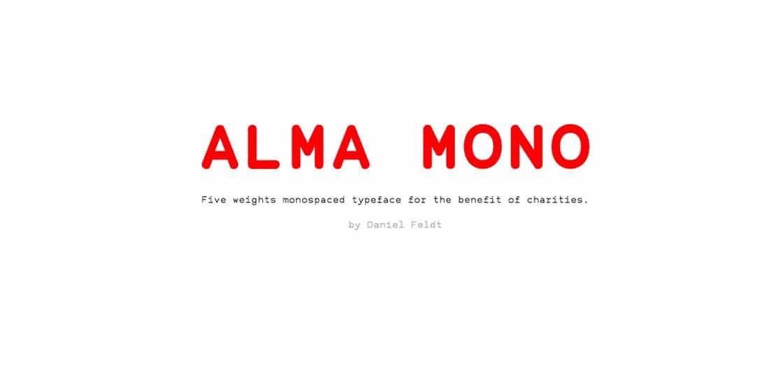 23 Alma Mono Contemporary Font