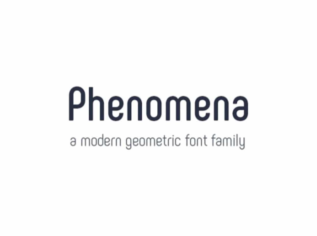 24 Phenomena Contemporary Font