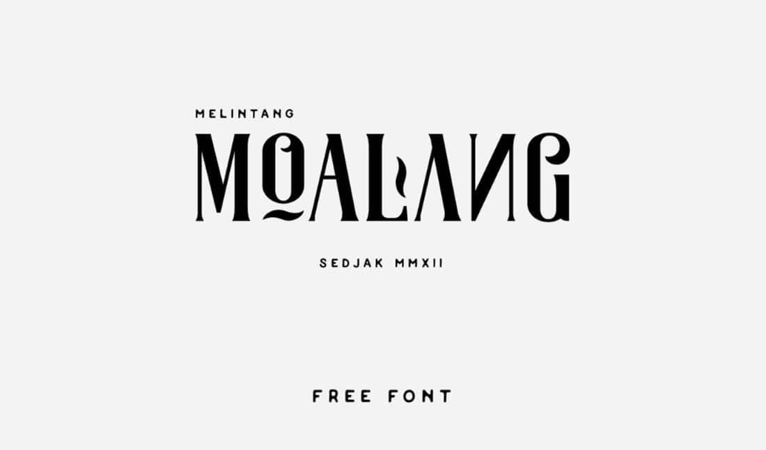 25 Moalang Contemporary Font