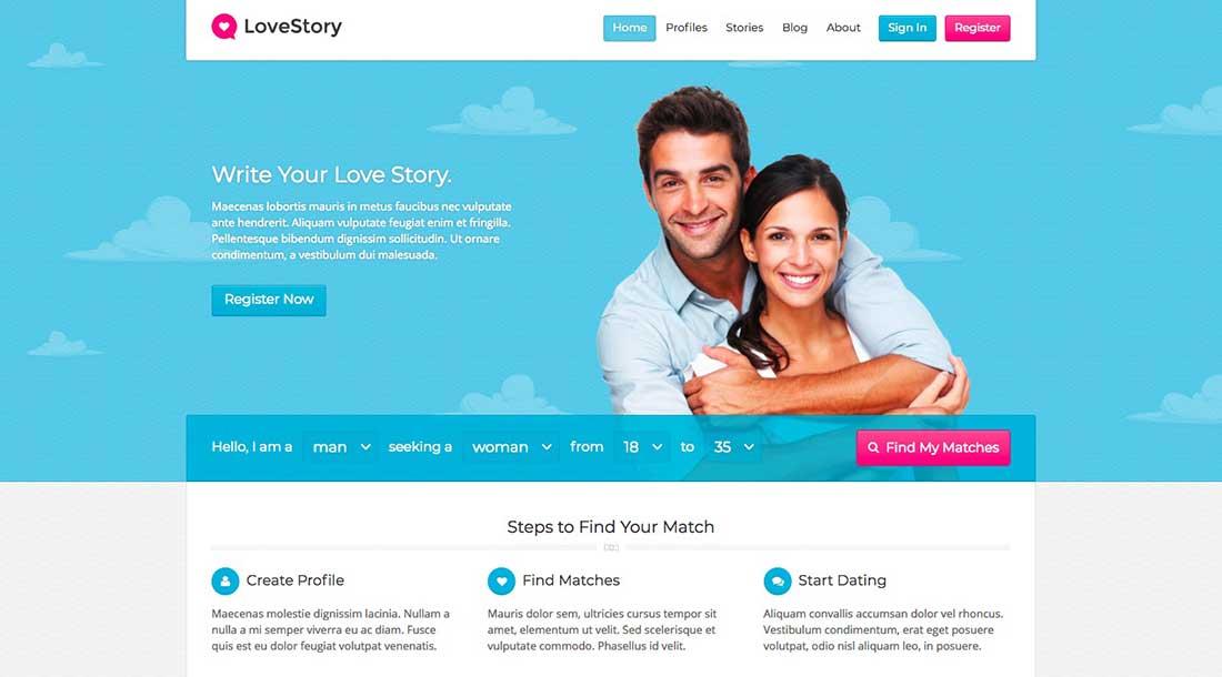 3 LoveStory -DatingWordPress Theme
