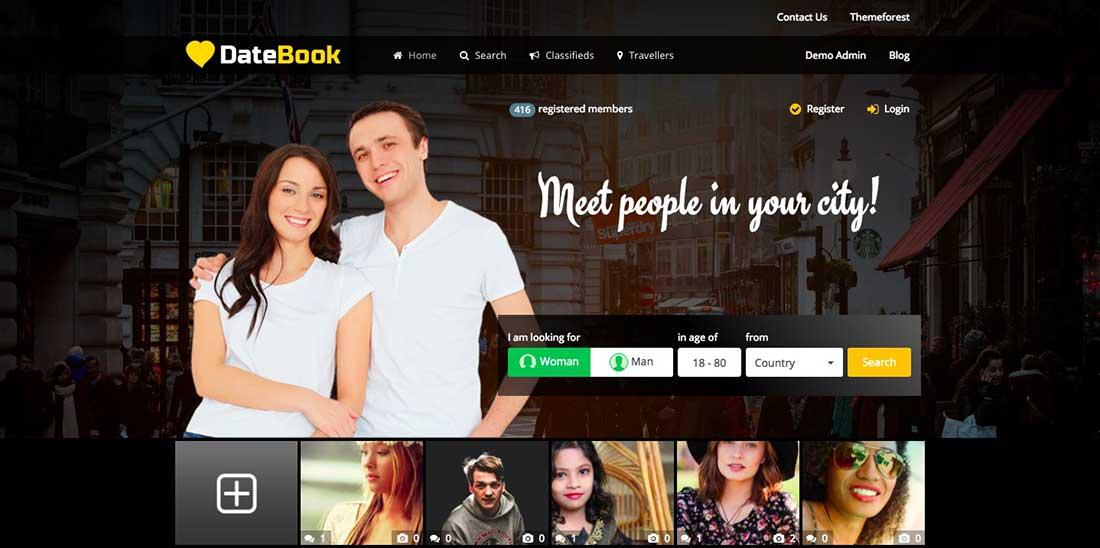 4 DateBook -DatingWordPress Theme