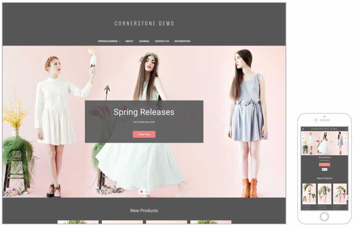 Cornerstone Bold Free Bigcommerce Themes