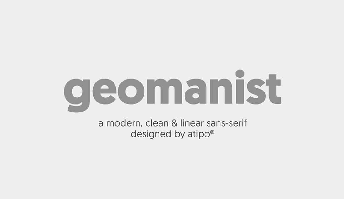 17 Geomanist Free Elegant Font