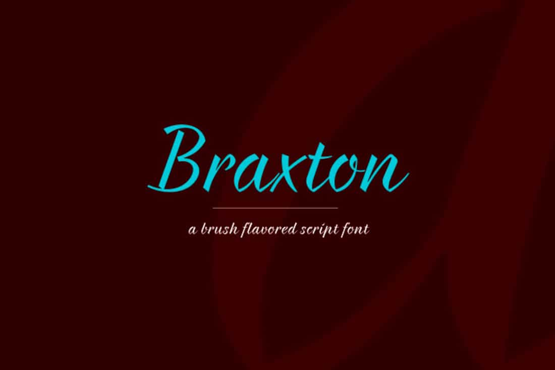 19 Braxton Free Elegant Font