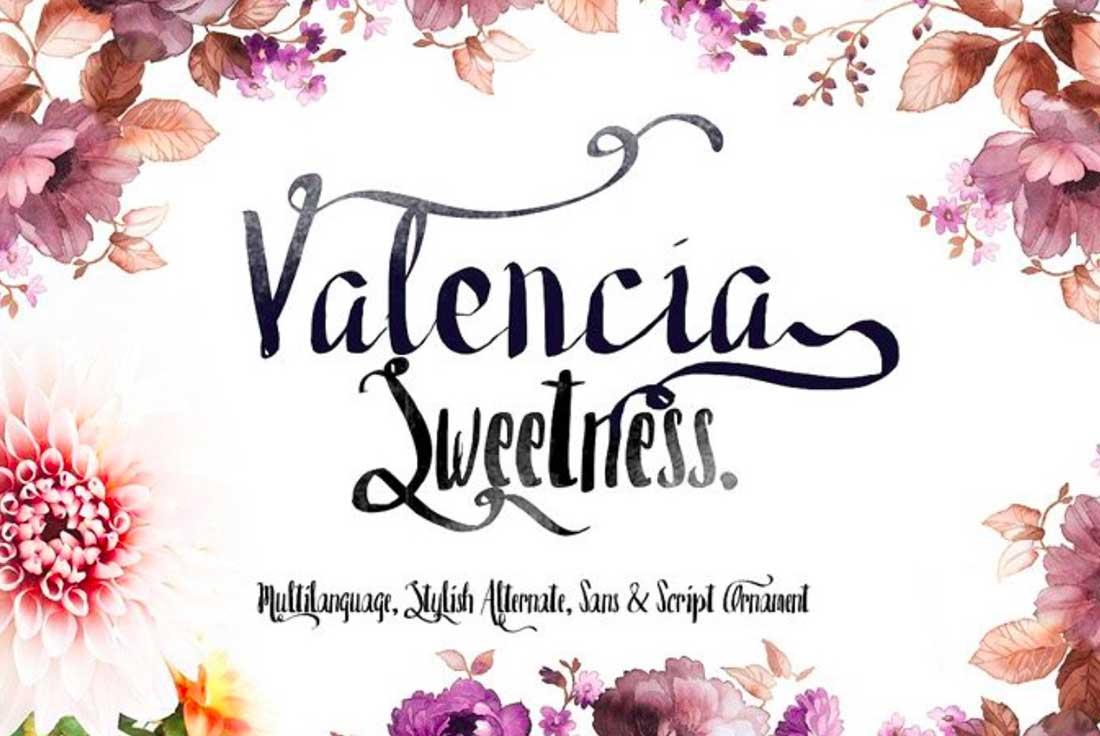 21 Valencia Free Elegant Font