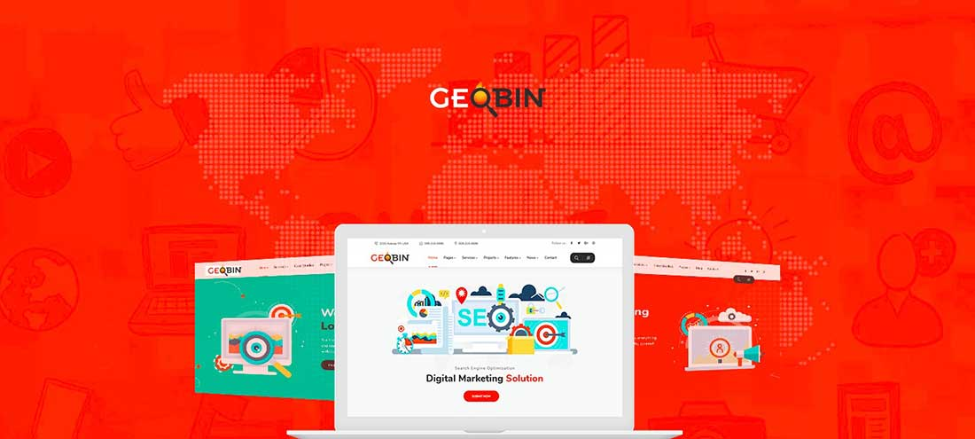 19 GeoBin | Social Media, Digital Marketing Agency, SEO WordPress Theme
