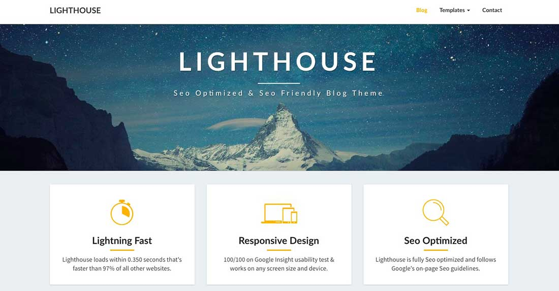 20 Lighthouse Blog - SEO Optimized and SEO Friendly Blogging Theme
