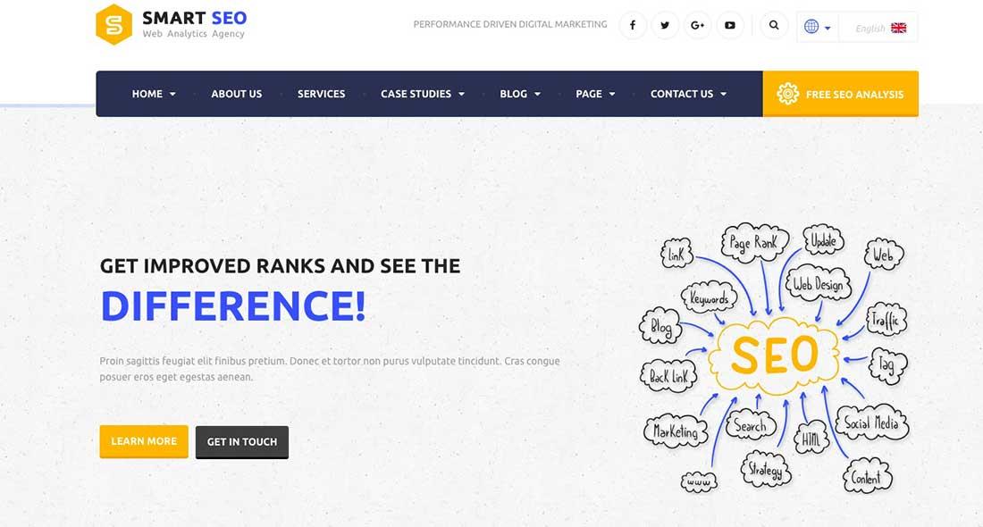 21 SMART SEO | Modern SEO & Marketing WordPress Theme