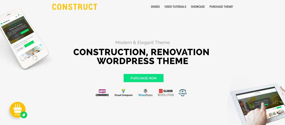 4 ConstructConstructionWordPress Theme