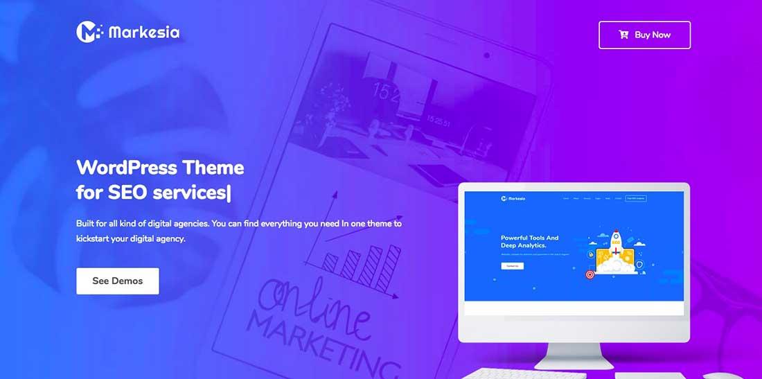 4 Markesia - Digital Marketing Agency and SEO WordPress Theme