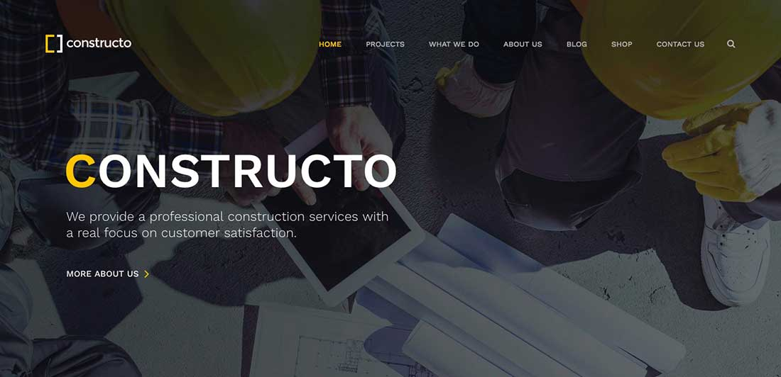 7 Constructo -ConstructionWordPress Theme