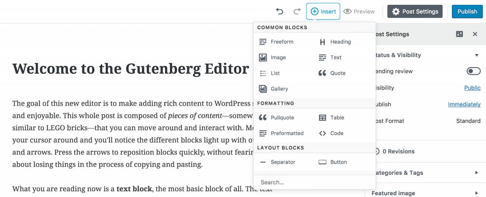 Understanding The New WordPress Gutenberg Editor