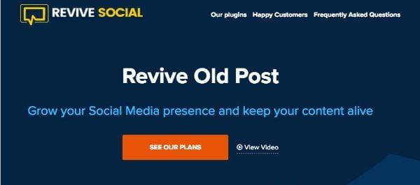 Social Media Integration WordPress plugins - Revive-Old-Post
