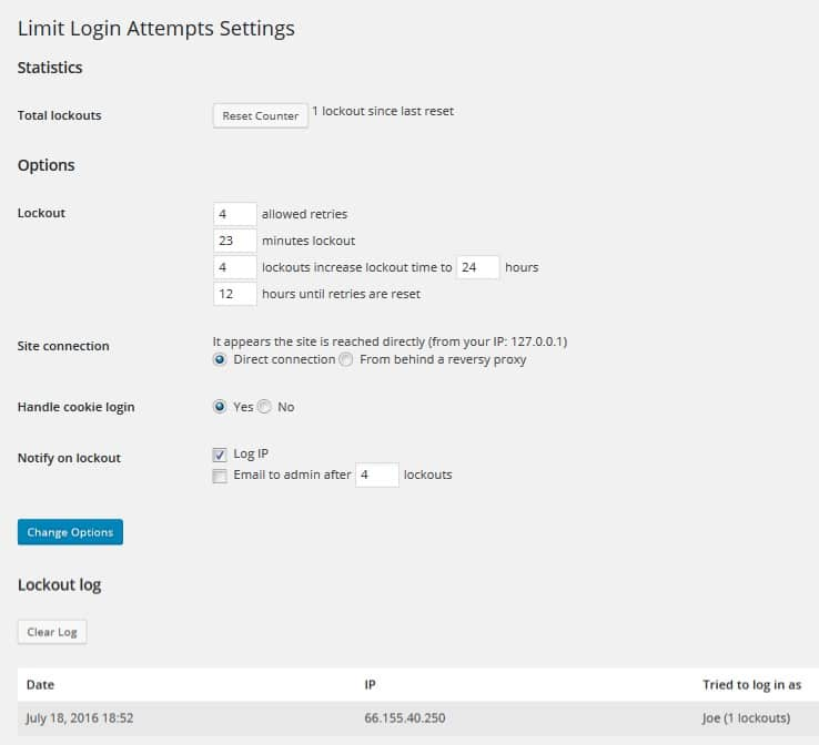 6 Best WordPress security plugins - Limit Login Attempts Reloaded