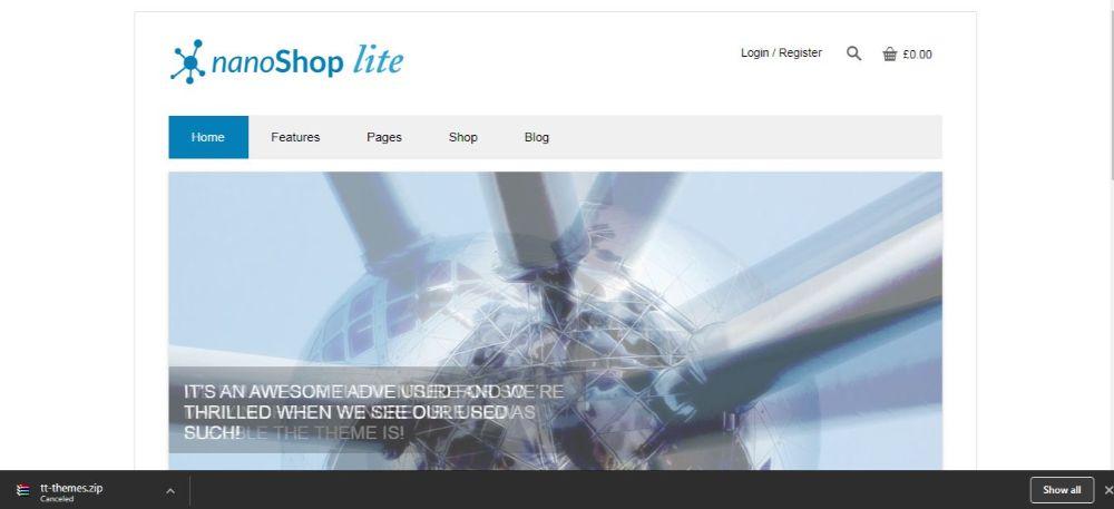12 FREE eCommerce WordPress Themes- Nano Shop WordPress theme