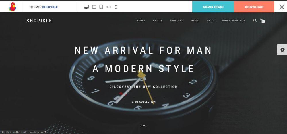 12 FREE eCommerce WordPress Themes- Shop Isle