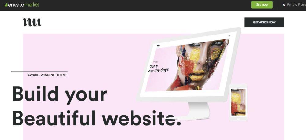 18 Best Minimalist WordPress Themes- Adios
