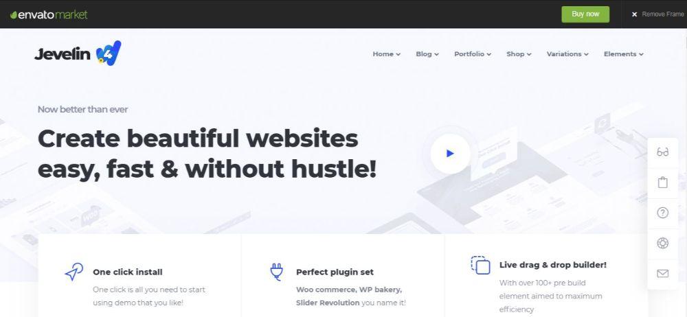 18 Best Minimalist WordPress Themes- Jevelin