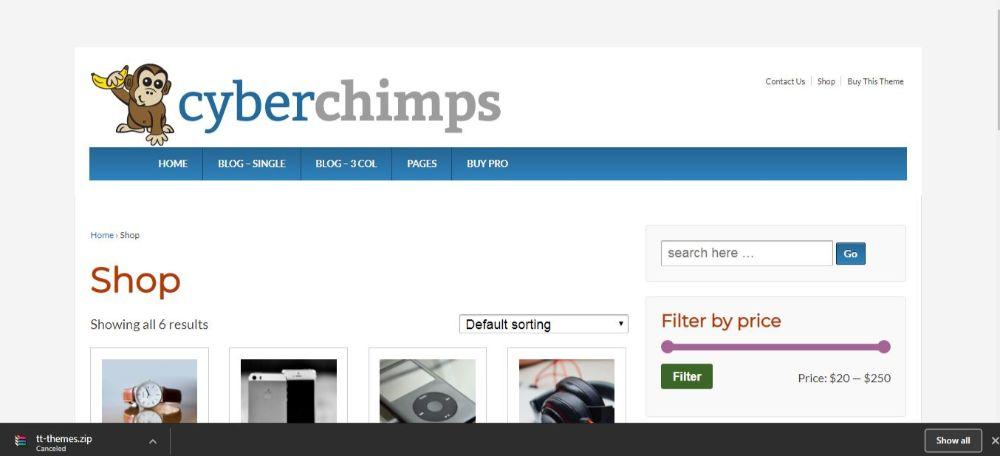 12 FREE eCommerce WordPress Themes- Responsive WordPress Theme