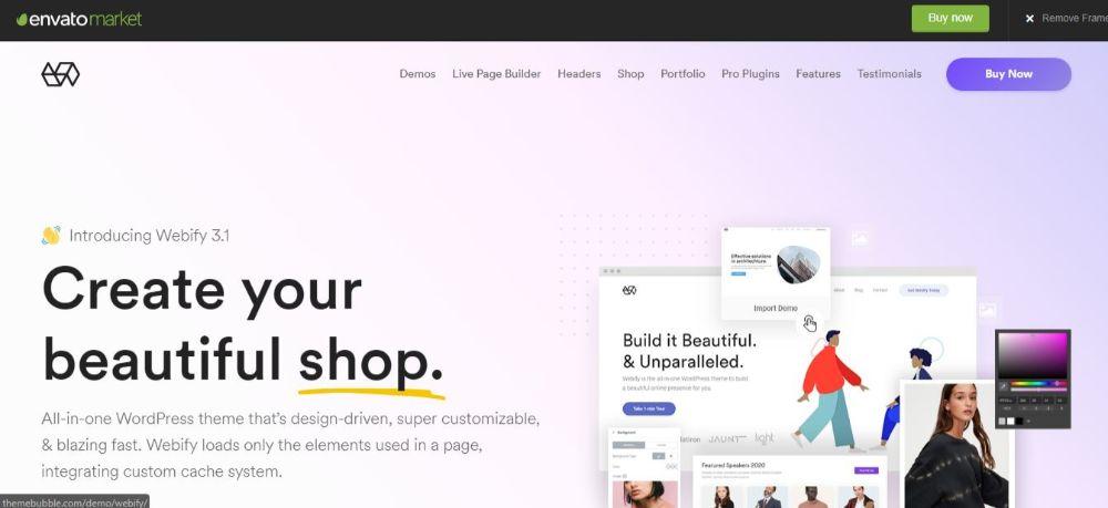 18 Best Minimalist WordPress Themes- Webify