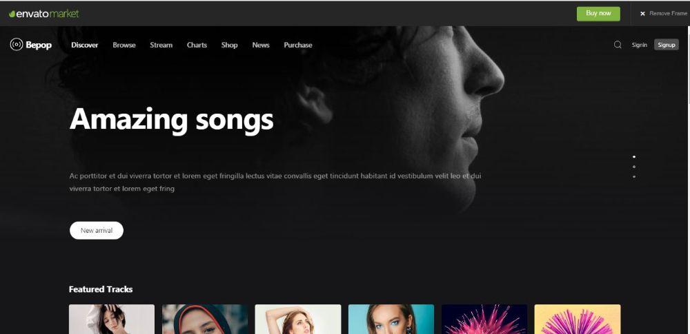 Bepop - Non-stop Music WordPress Theme