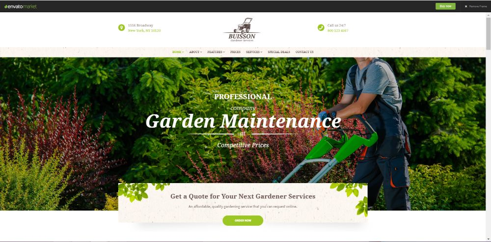 Buisson   Gardening & Landscaping Services WordPress Theme