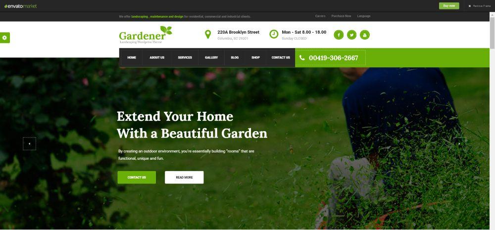 Gardener - Gardening and Landscaping HTML Template