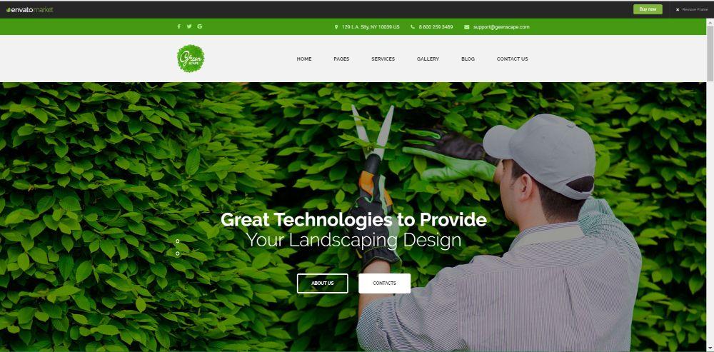 Greenscape - Lawn Mowing & Garden WordPress Theme