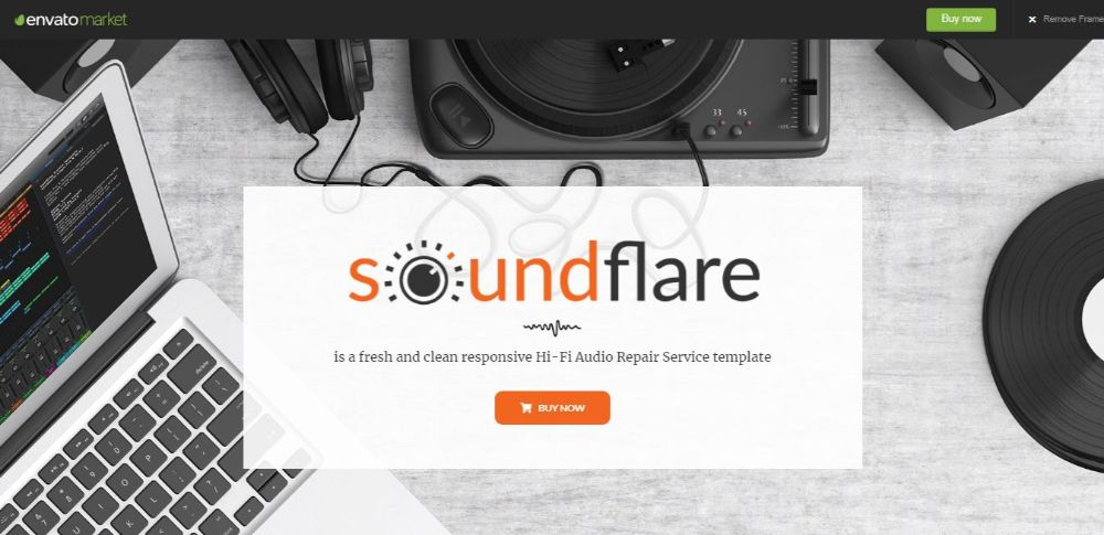 SoundFlare - Hi-Fi Audio Repair Service Landing Page HTML5 Template